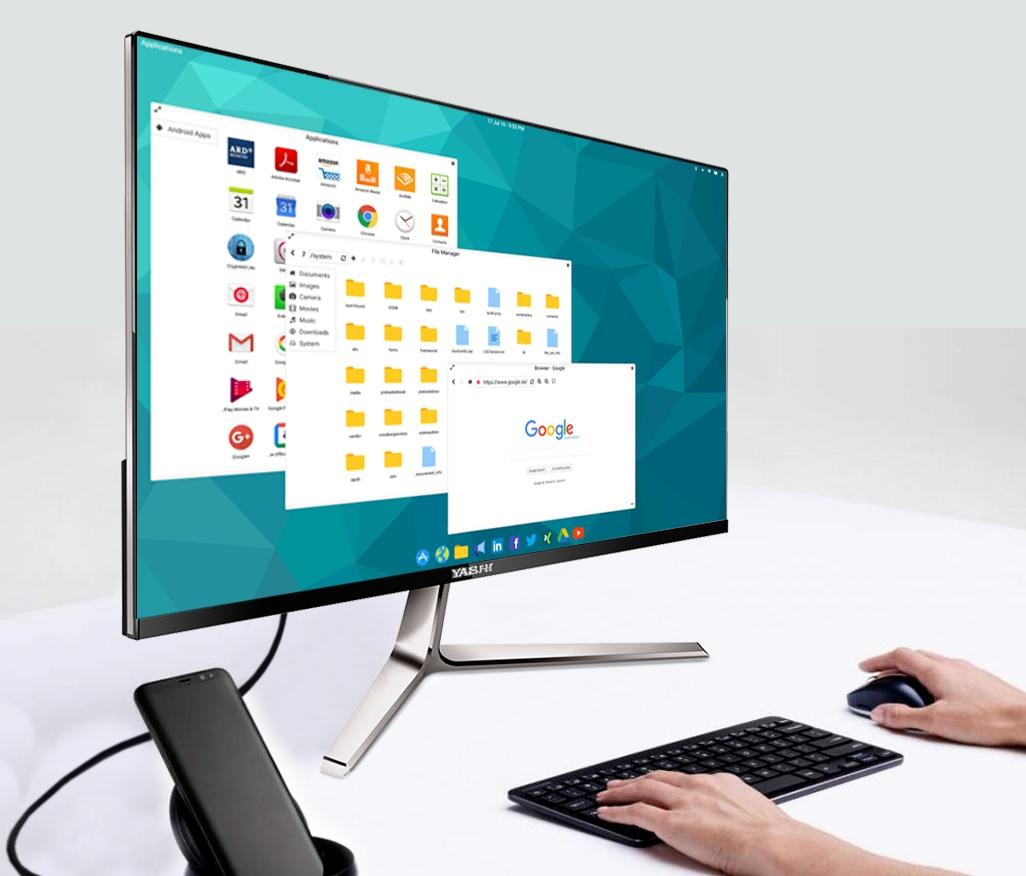 Monitor per usare lo smartphone come un PC con TYpe C +
